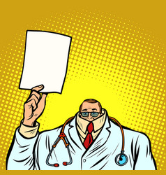 help information cowardly male doctor medicine vector image