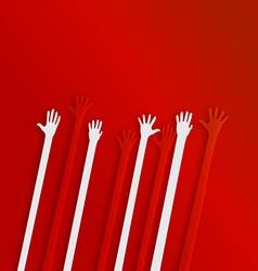 Helping hand background design vector