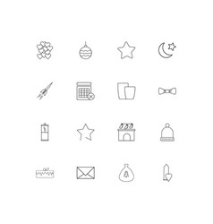 Holidays linear thin icons set outlined simple vector