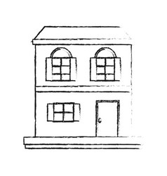 House or home two story icon image vector