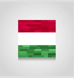 hungary abstract flag background vector image