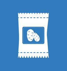 Icon potato seeds vector