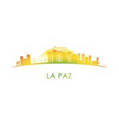 la paz skyline silhouette design colorful vector image