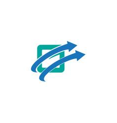 letter g business symbol vector image