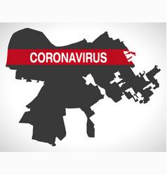 Louisville kentucky city map with coronavirus vector