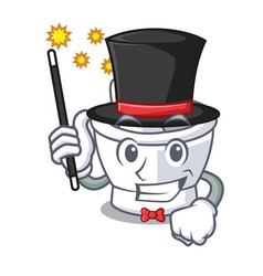 Magician mortar mascot cartoon style vector