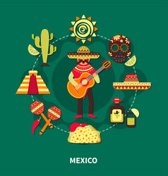 mexico travel vector image