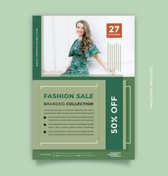 modern green flyer design template vector image