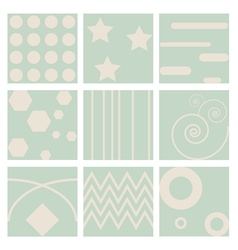 nine retro seamless pattern vector image
