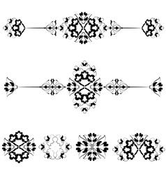 Ottoman motifs design series with seventeen vector image