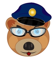 Portrait bear police vector