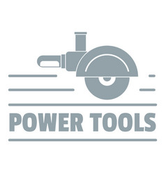 Power tool metal logo simple gray style vector