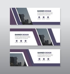 Purple abstract triangle corporate business banner vector
