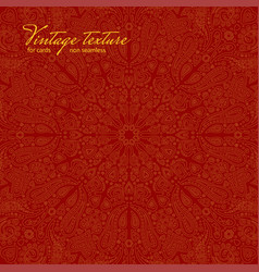 Red ornate background for cards vector
