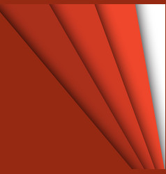 Red paper overlapping abstract background vector