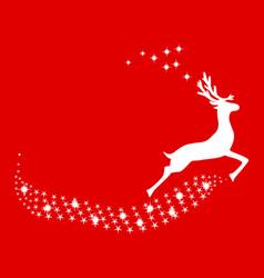 reindeer christmas with stars vector image