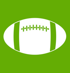 rugby ball icon green vector image