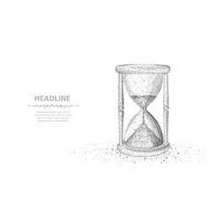 Sandglass abstract 3d wireframe lock isolated on vector