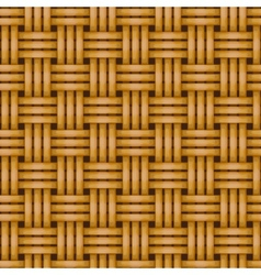 Seamless woven wicker rail fence background vector