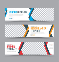 set of horizontal web banners in a place for a vector image