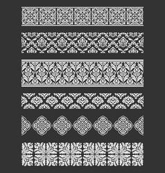 set seamless borders border decorative vector image