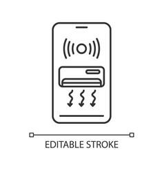 Smart air conditioner linear icon vector