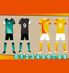 soccer jersey template vector image