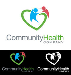 Social community health company icon logo vector image