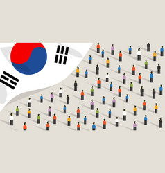 south korean independence anniversary celebration vector image