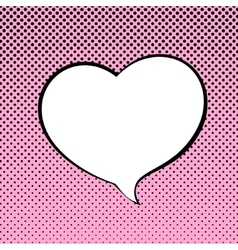 Speech bubble heart shaped vector