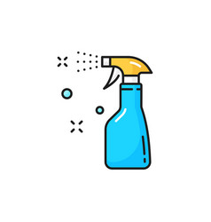 Spray bottle isolated icon of sprayer disinfection vector