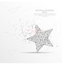 star digitally drawn low poly triangle wire frame vector image