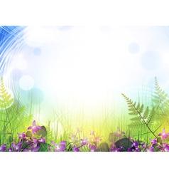 Summer meadow vector