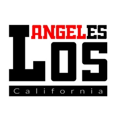 T shirt typography Los Angeles CA vector image