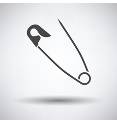 Tailor safety pin icon vector image