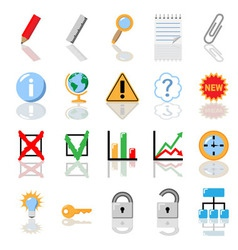 Textbook icons for print vector image vector image