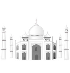 The building is in the style of the taj mahal vector