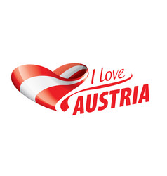 the national flag austria and the vector image