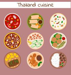 traditional thai food asian plate cuisine thailand vector image