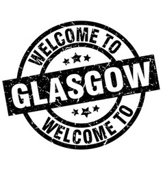 Welcome to glasgow black stamp vector