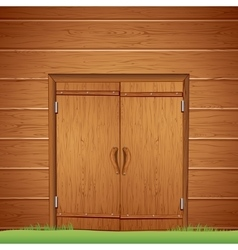 Wooden Barn Door Image vector