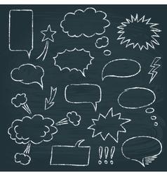 Comics style speech bubbles set vector image vector image