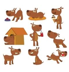 Dog set vector image