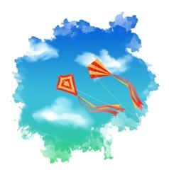 Sky Kite Watercolor vector image
