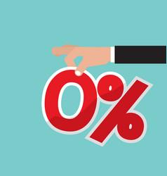 zero percent interest vector image