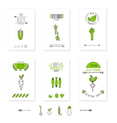 Healthy food card vegetables vegetarians eco vector image