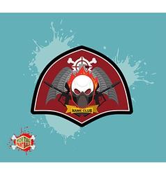 Paintball logo skul protection mask Heraldic vector image