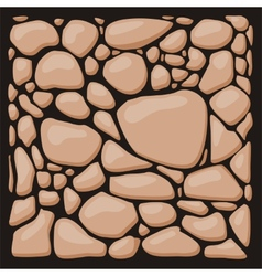 Stone cladding texture set vector image vector image