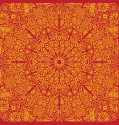 hearts background texture with indian ornaments vector image