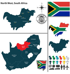 map of north west south africa vector image vector image